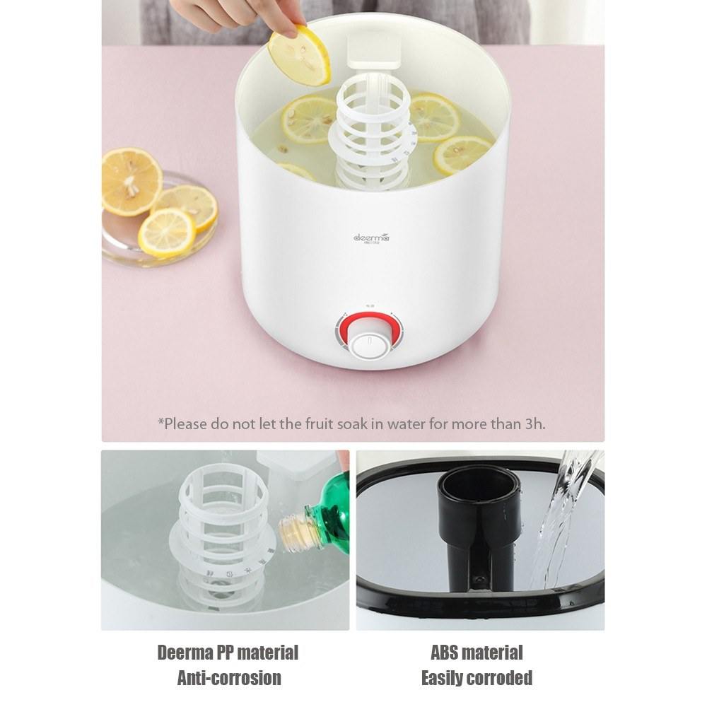 Deerma Air Humidifier Mist Maker Mute Purifier Moisturing Tool Aromatherapy diffuser for Office Home Living Room 220V DEM-F300