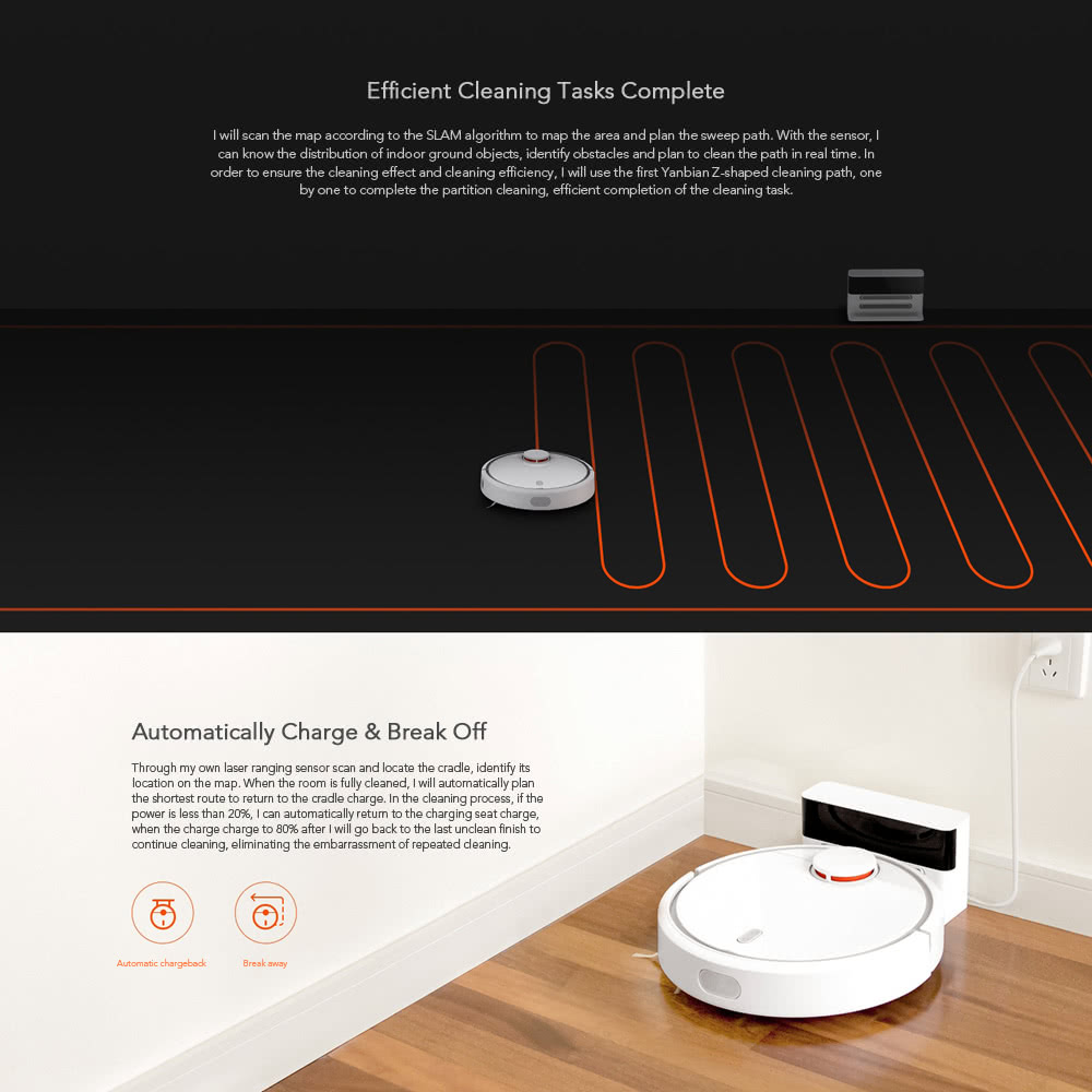 Xiaomi Mi Robot Vacuum Cleaner Home Dust Collector Robot Pet Hair Remover  Floor-cleaning LDS Detect Path-plan Remote APP