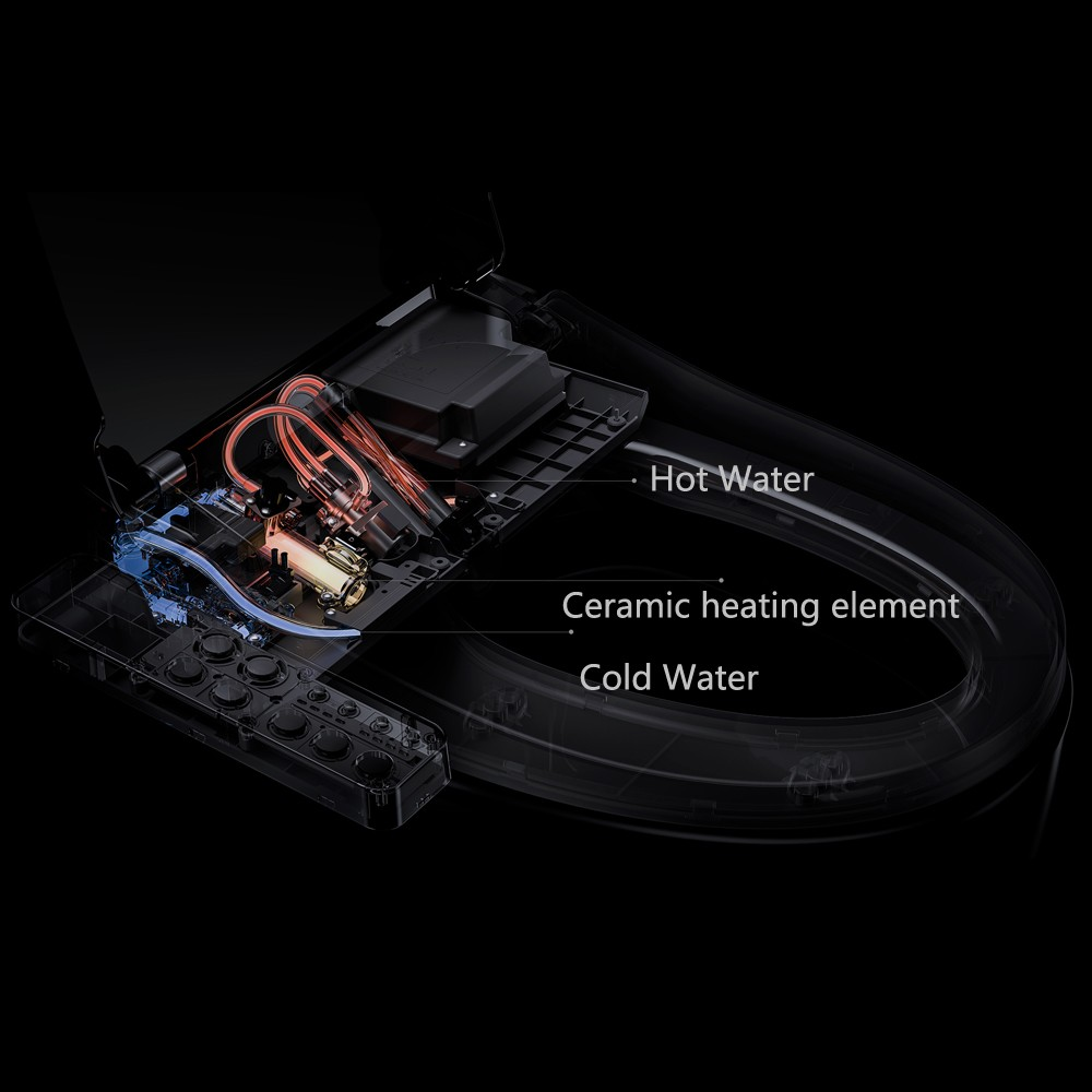 Xiaomi Eco Chain Smartmi Smart Toilet Seat Lid Cover Us24299 Bathroom Wiring Code Canada