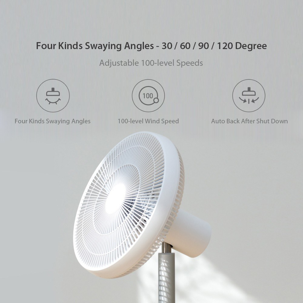 New Xiaomi Smartmi Pedestal Fan 2 Floor Home DC Standing Fan