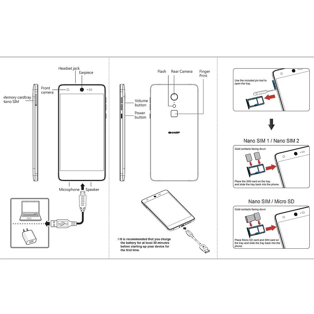 SHARP Z2 Mobile Phone 4GB RAM 32GB ROM (Gold)