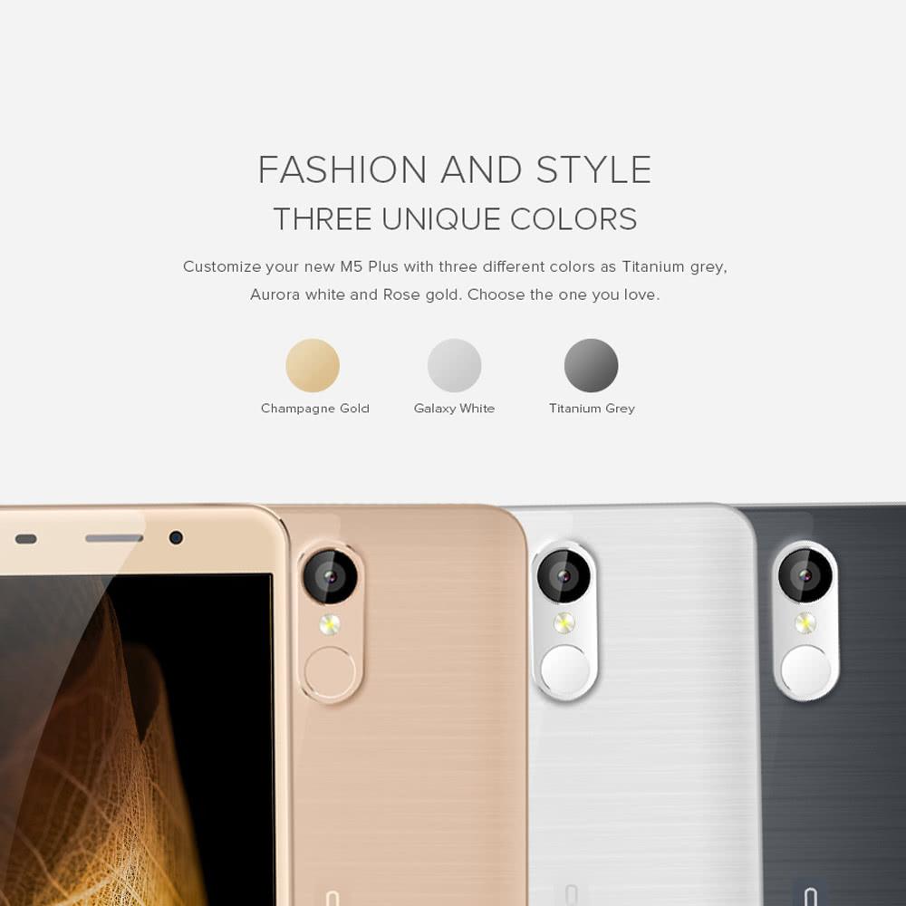 Leagoo M5 Plus Smartphone 4g Fdd Lte 3g Wcdma Mtk6737 25d 55 M Ppwerbank 5000 Mah Silver Inches Hd 1280 720 Pixels Screen Freeme Os 60 2gb 16gb 5mp 13mp Dual Cameras Metal Frame