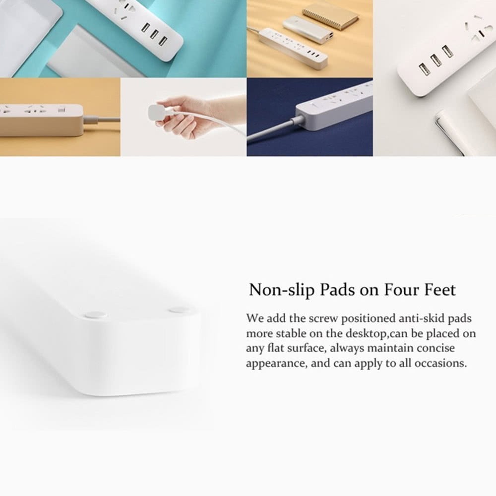 Xiaomi Mi Smart Power Socket Portable Strip Plug Adapter Fast With 3 Usb Port 2a Charging Extension Standard Multifunctional Home Electronics 18m