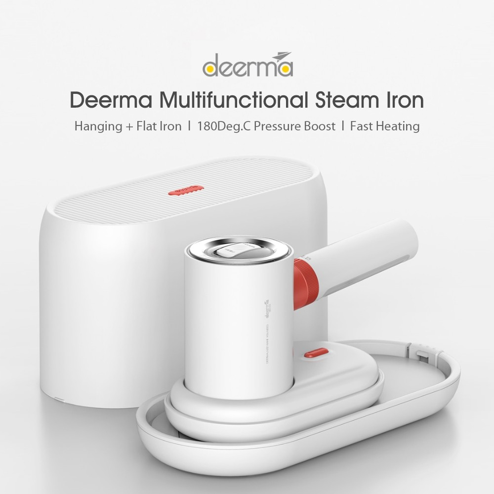 Global Version Deerma Multifunctional Steamer Ironing Machine DEM-HS200 Travel Hanging Flat Iron Intelligent Preheating System 220V 1000W