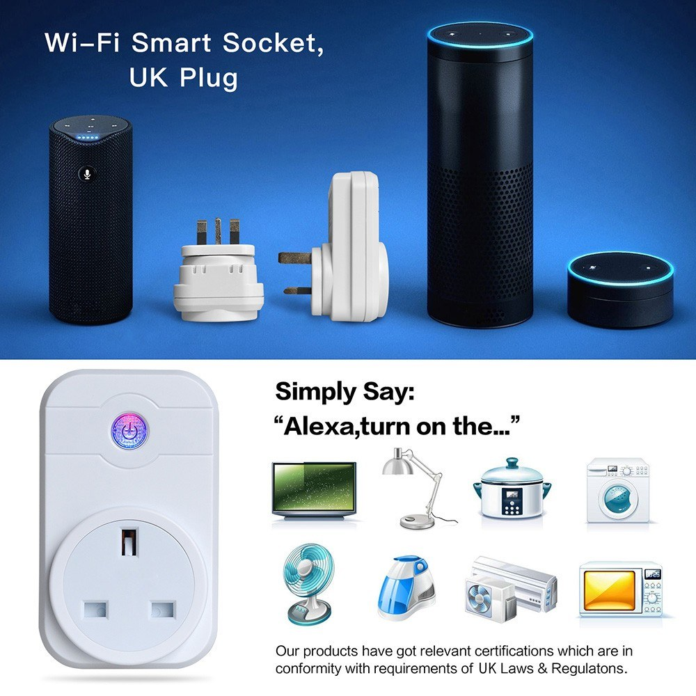 Smart Wifi Socket Mini Electric EU Plug Power Adapter