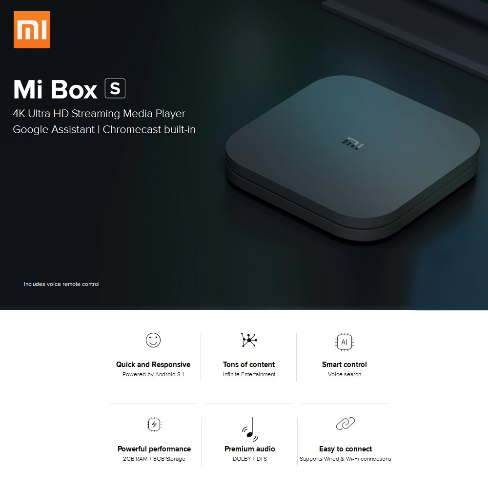 Global Version Xiaomi Mi Box S 4K HDR