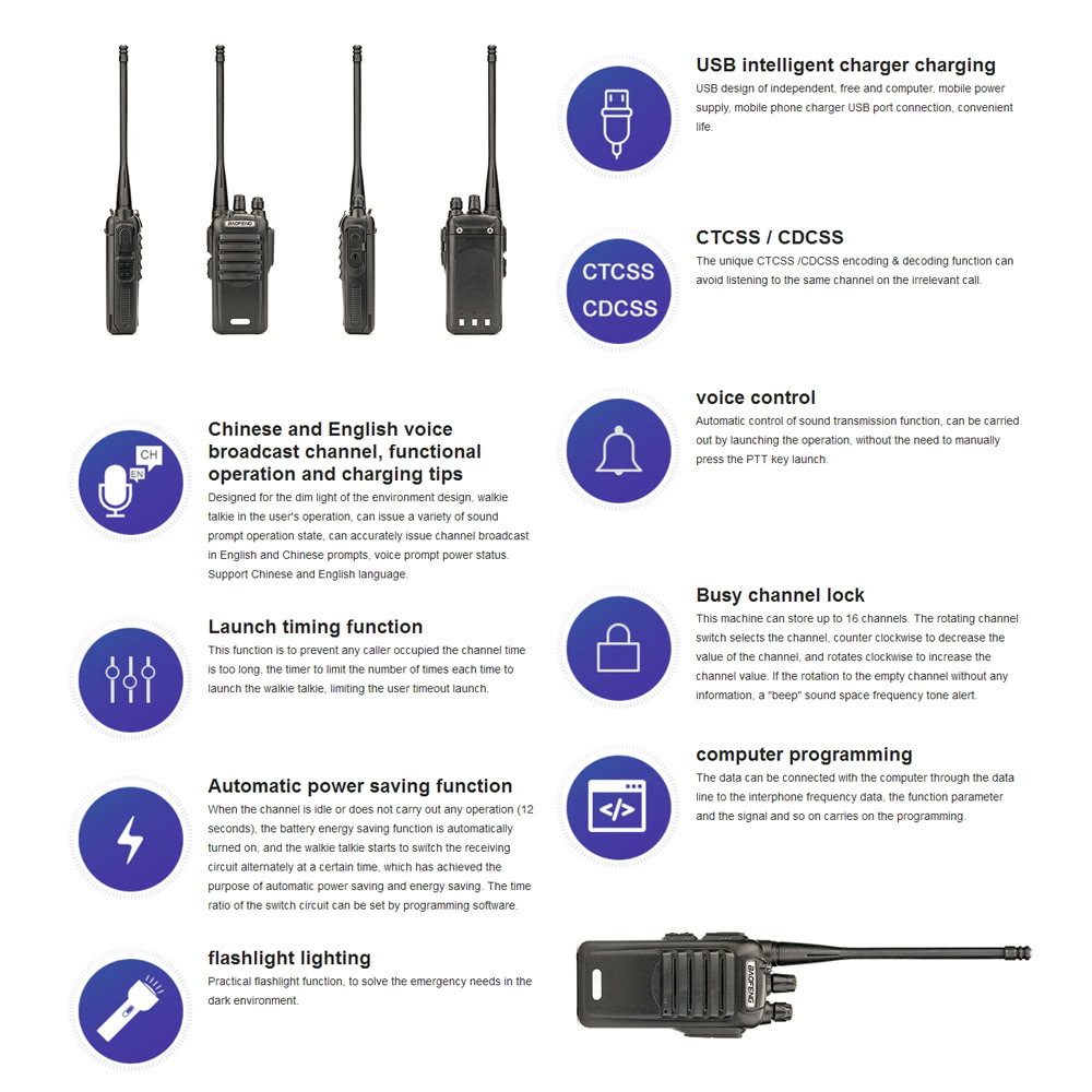 Original Baofeng Jp 3 Mobile 2 Way Radio Walkie Talkie Uhf Ctcss Dcs Antenna Switch Circuit Package List 1 Interphone Battery Power Adapter Charging Stand Earphone Clip String User Manualenglish