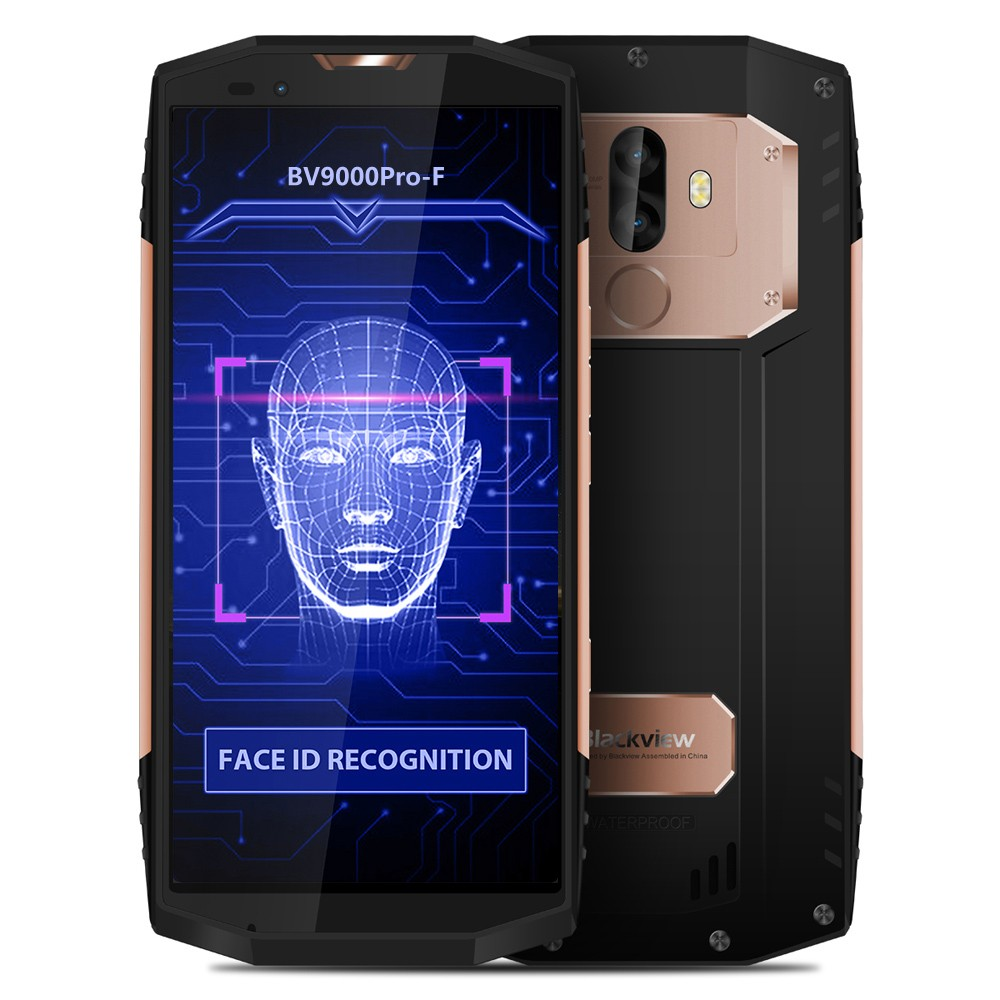 blackview bv9000pro f visage id smartphone 6 go de ram 128 go rom 5 7 pouces eu or. Black Bedroom Furniture Sets. Home Design Ideas