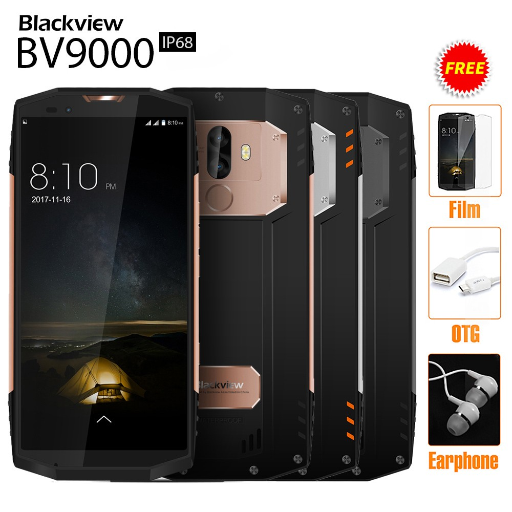 Blackview BV9000 IP68 4G Smartphone 4GB RAM 64GB ROM 18:9 Full Screen 5.7 inches Helio P25 8-core 4180mAh Dual Back Cameras Android 7.1 NFC E-compass