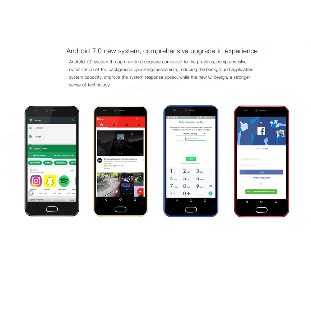 AllCall Alpha Smartphone 3G WCDMA 1GB RAM 8GB ROM