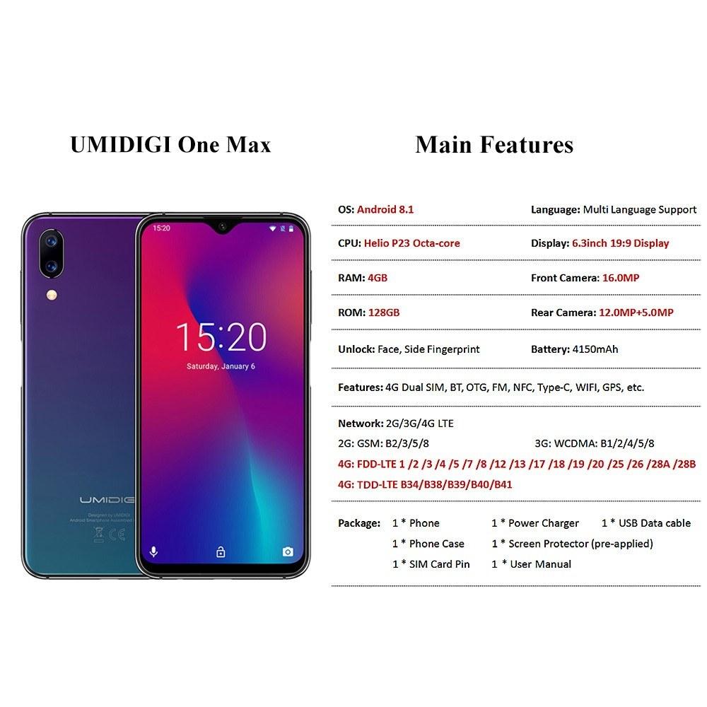 Best UMIDIGI One Max Smartphone 4GB Sale Online Shopping 1 | Cafago com