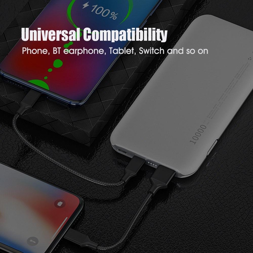 QCY PB10 Portable Charger 10000mAh PD USB-C Power Bank