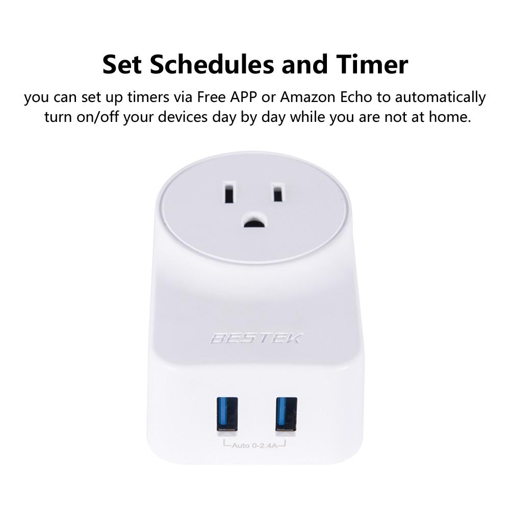 Best Bestek Mrj1011 Wifi Smart Plug Compatible With Alexa Google Xiaomi Mi Power Strip Adapter Remote Control Functio Home Automation Module