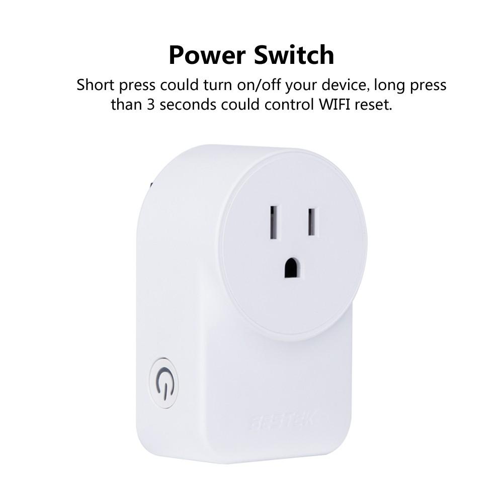 BESTEK MRJ1011 Wifi Smart Plug Compatible with Alexa & Google Home ...