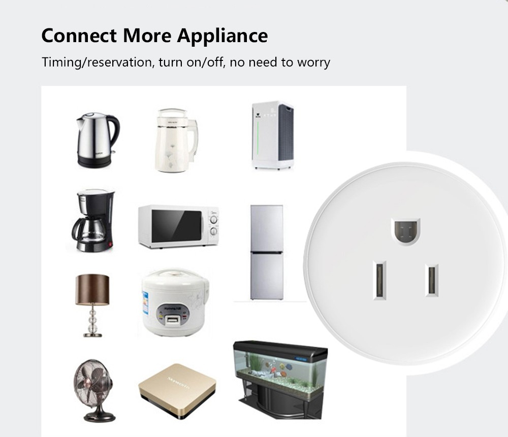 Wifi Smart Socket Compatible With Amazon Alexa Wireless Remote How To Wire A Light Switch Plug Outlet 1 User Manual