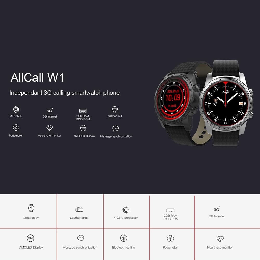 AllCall W1 Watch-Phone 2GB RAM 16GB ROM