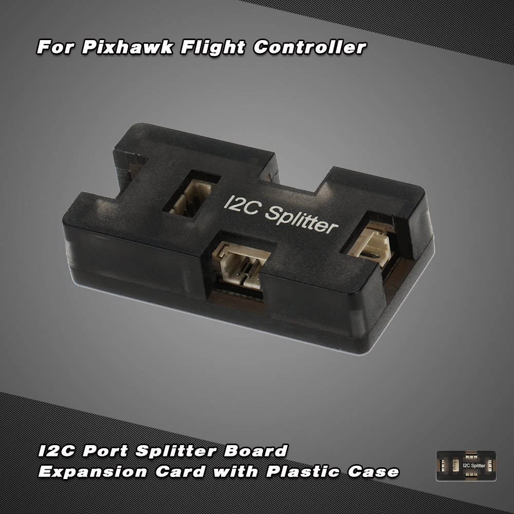 I2C Port Splitter Board Expansion Card with Plastic Case for Openpilot  Pixhawk PIX Lite/PIX Mini/PX4 Flight Controller