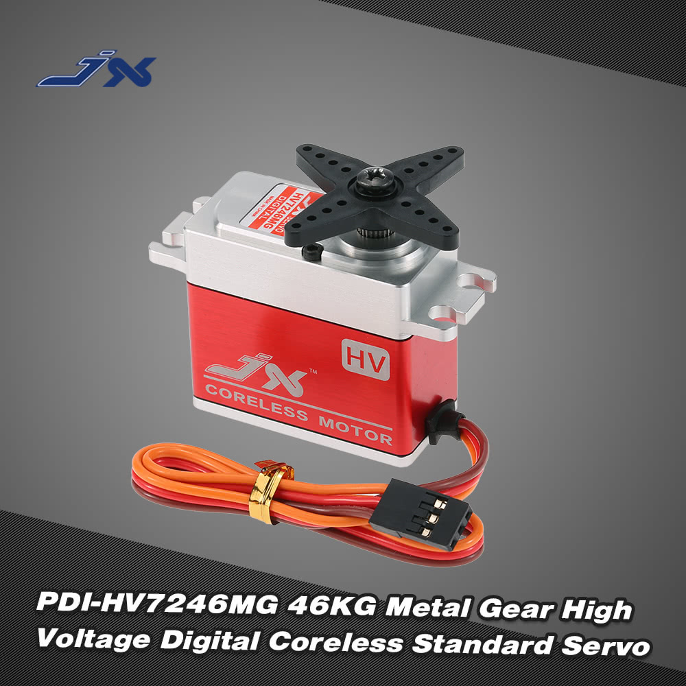 JX PDI-HV7246MG 46KG Metal Gear High Voltage Digital Coreless ...