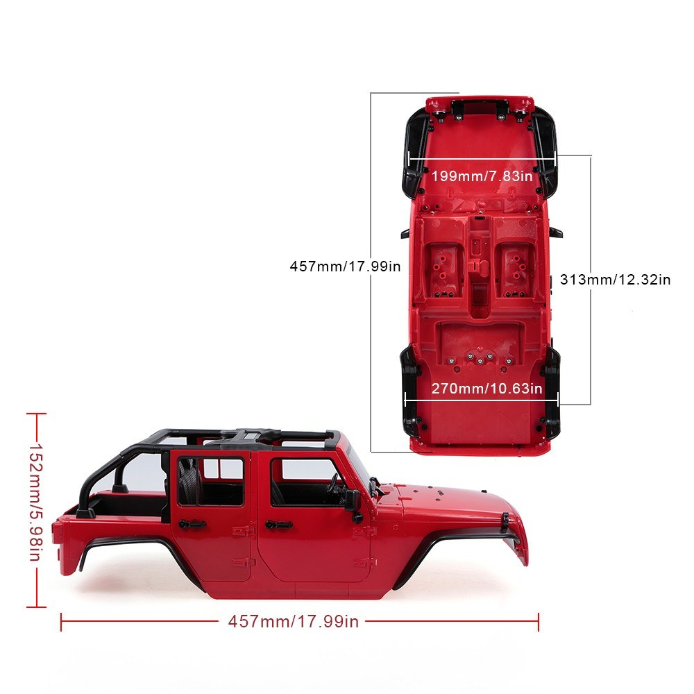 DIY Hard Plastic Car Body Shell for 313mm Wheelbase 1/10 Axial SCX10 SCX10  II Chassis RC Jeep Truck Car