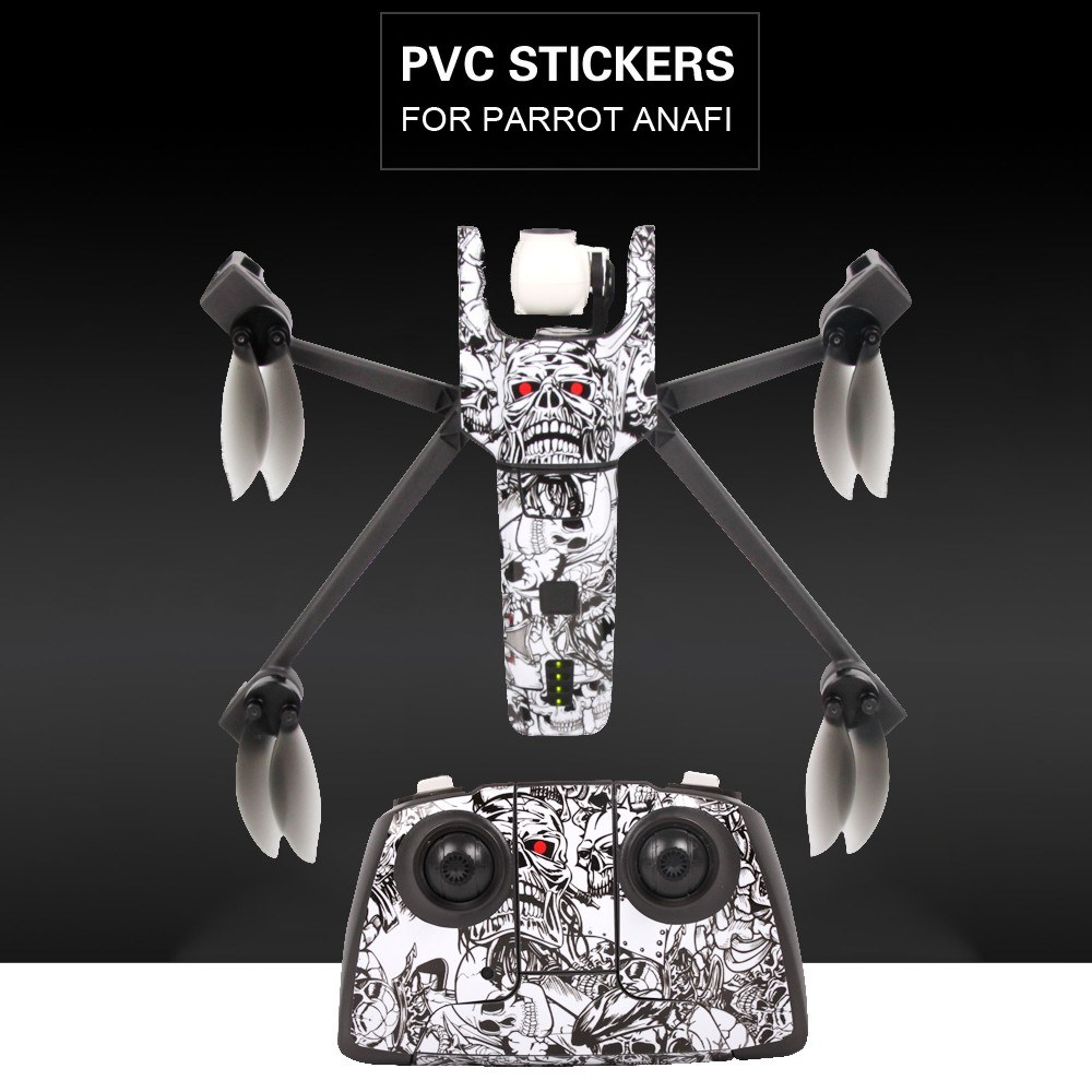Sunnylife Protector Sticker Waterproof PVC Skin Cover Skull Sticker for  Parrot Anafi Drone Remote Controller for Sale - US$9 18 #1 | Tomtop