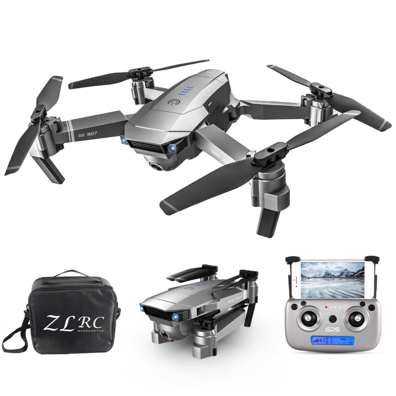 Tomtop - [EU Clearance Sale] SG907 GPS 5G WIFI 1080P RC Drone with Dual Camera 18 mins Flight Time with Bag, $44.99 (Inclusive of VAT)