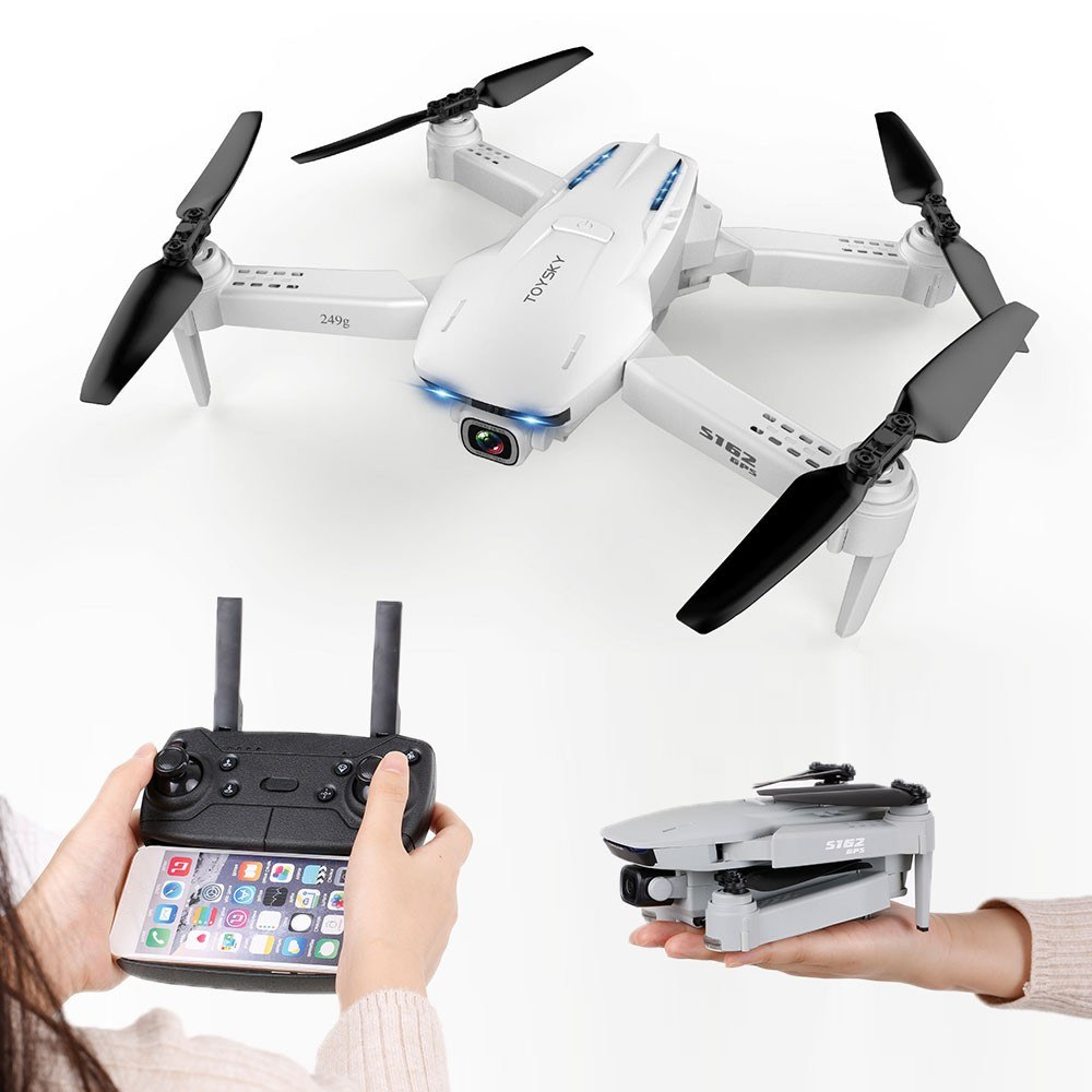 tomtop.com - 49% OFF CSJ S162 2.4G WIFI GPS Drone 1080P Camera FPV RC Quadcopter, Limited Offers $84.99