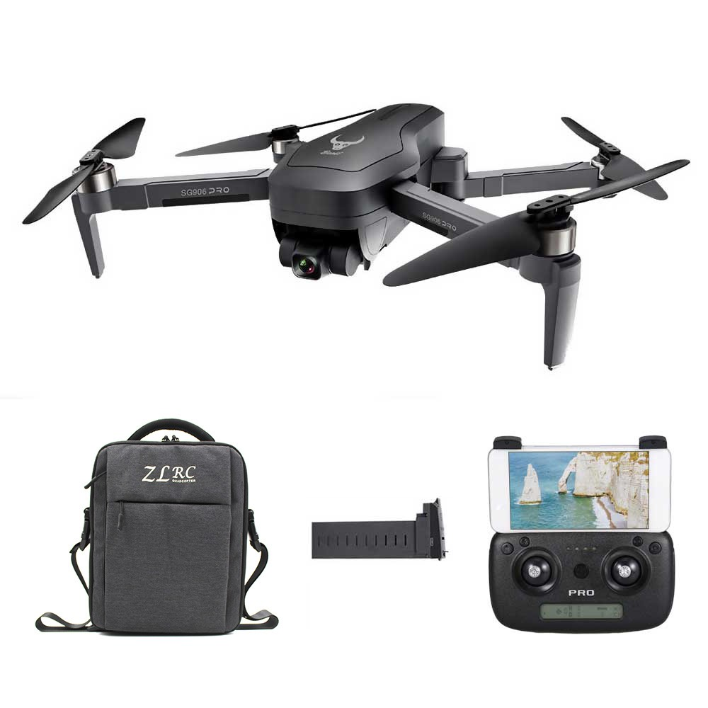 tomtop.com - 57% OFF ZLRC SG906 PRO GPS 5G 4K Camera RC Drone with 1 Bag 3 Batteries, Limited Offers $172.99