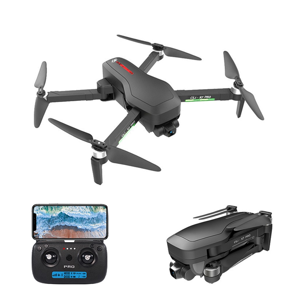tomtop.com - 59% OFF CSJ X7 PRO GPS 5G Wifi 4K RC Drone 2-axis Gimbal with Backpack, Limited Offers $156.99