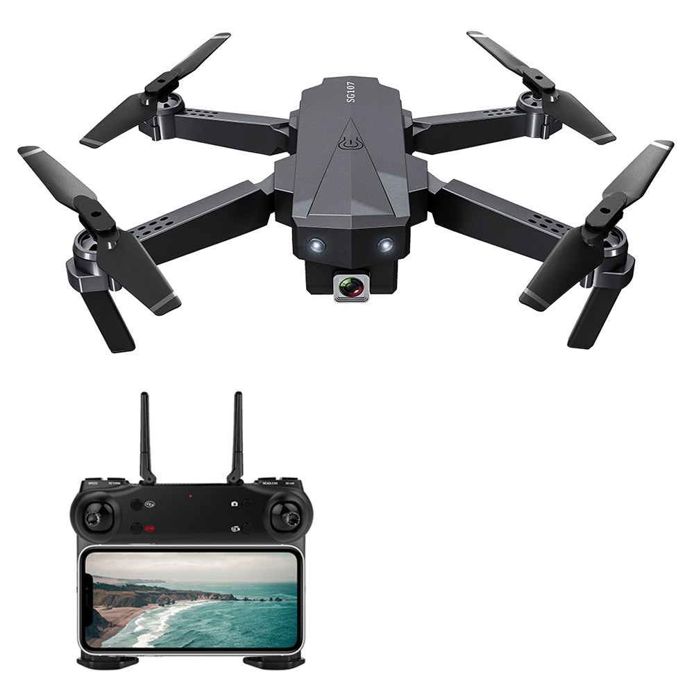 tomtop.com - 49% OFF SG107 4K HD Foldable Mini Drone APP Control Indoor RC Quadcopter, Limited Offers $37.99