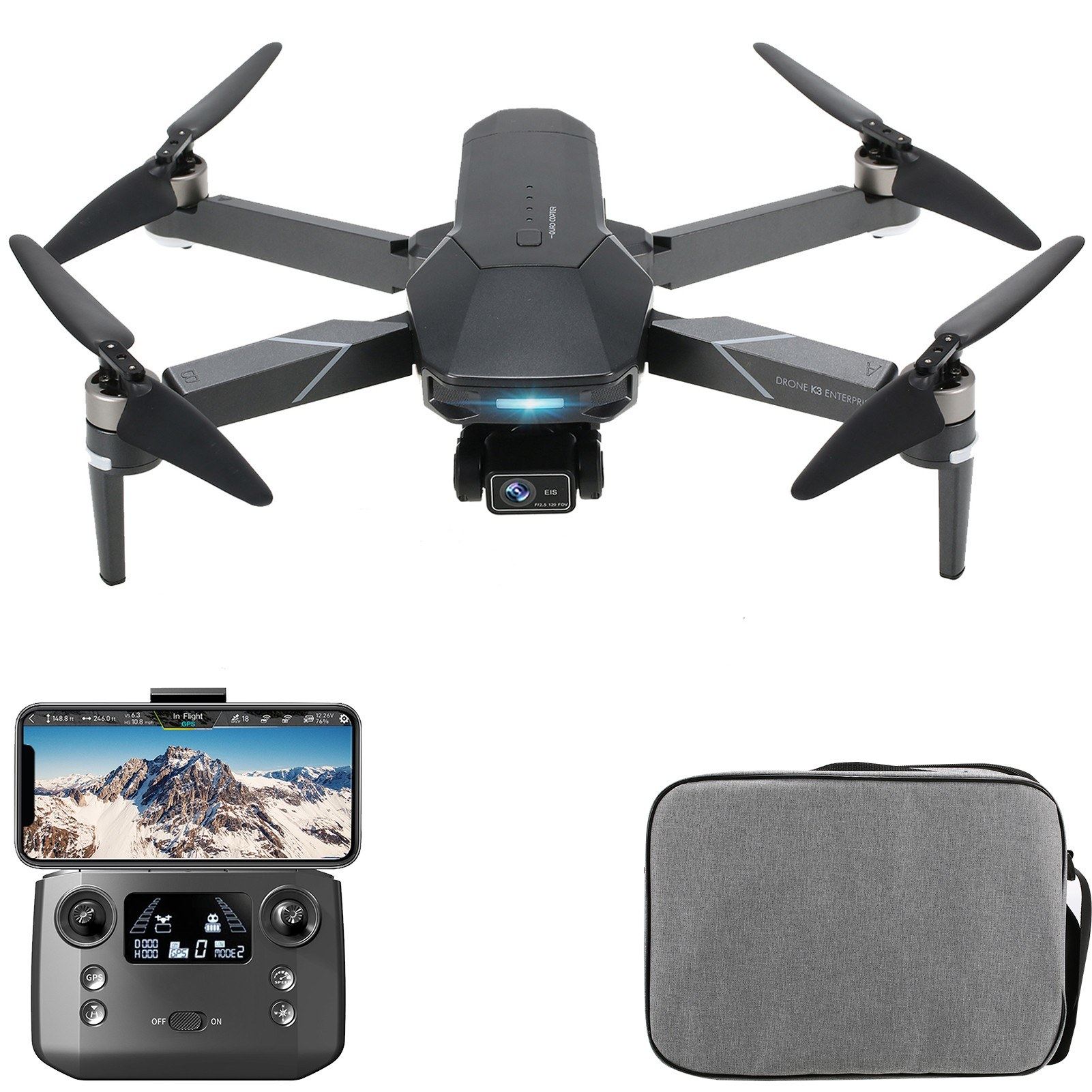 Tomtop - 49% OFF VISUO K3 5G Wifi FPV GPS EIS 2.7K Camera RC Drone, Free Shipping $197.99