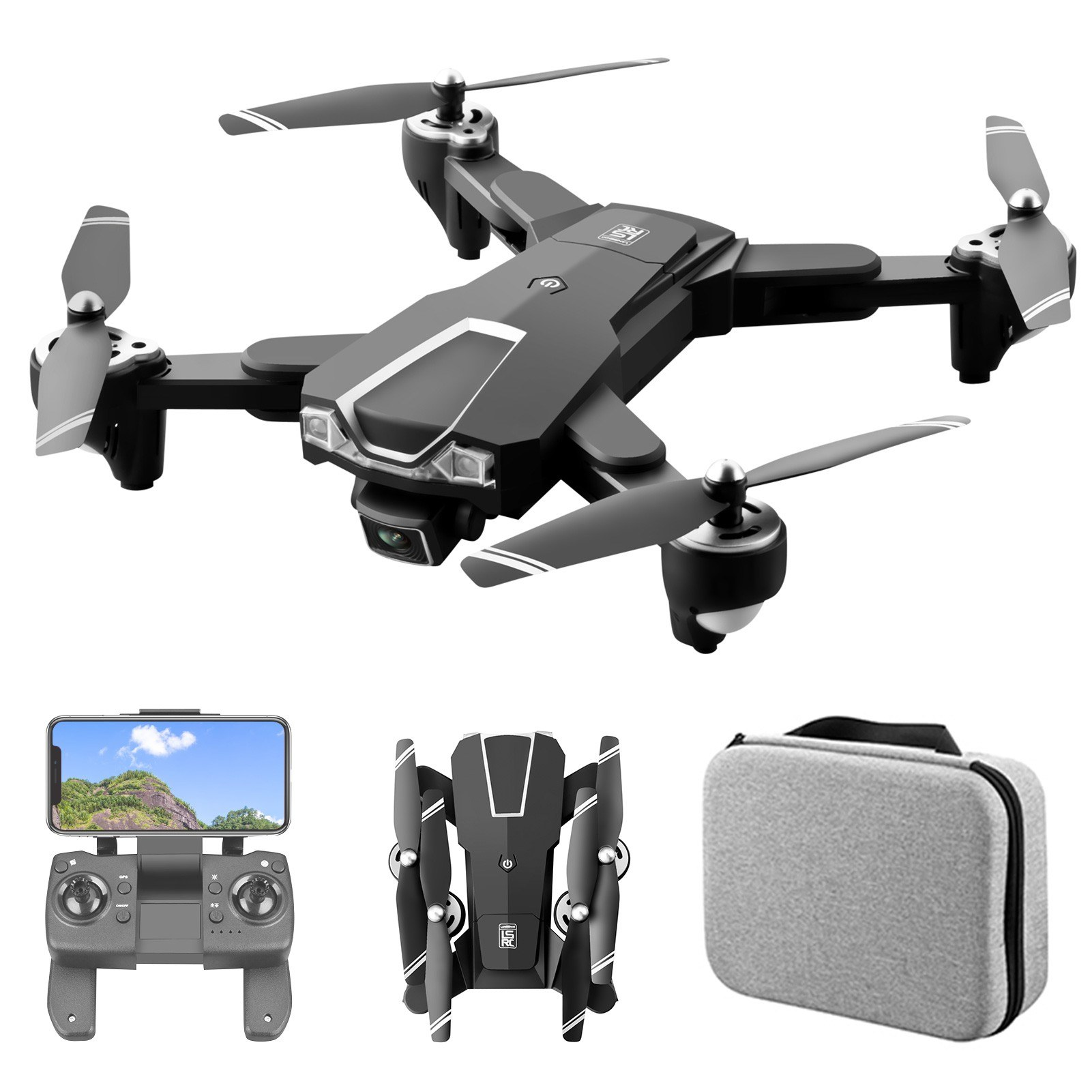 Tomtop - 54% OFF LS-25 5G WIFI FPV GPS 4K Camera RC Drone with Storage Bag for $79.99, Free Shipping $79.99