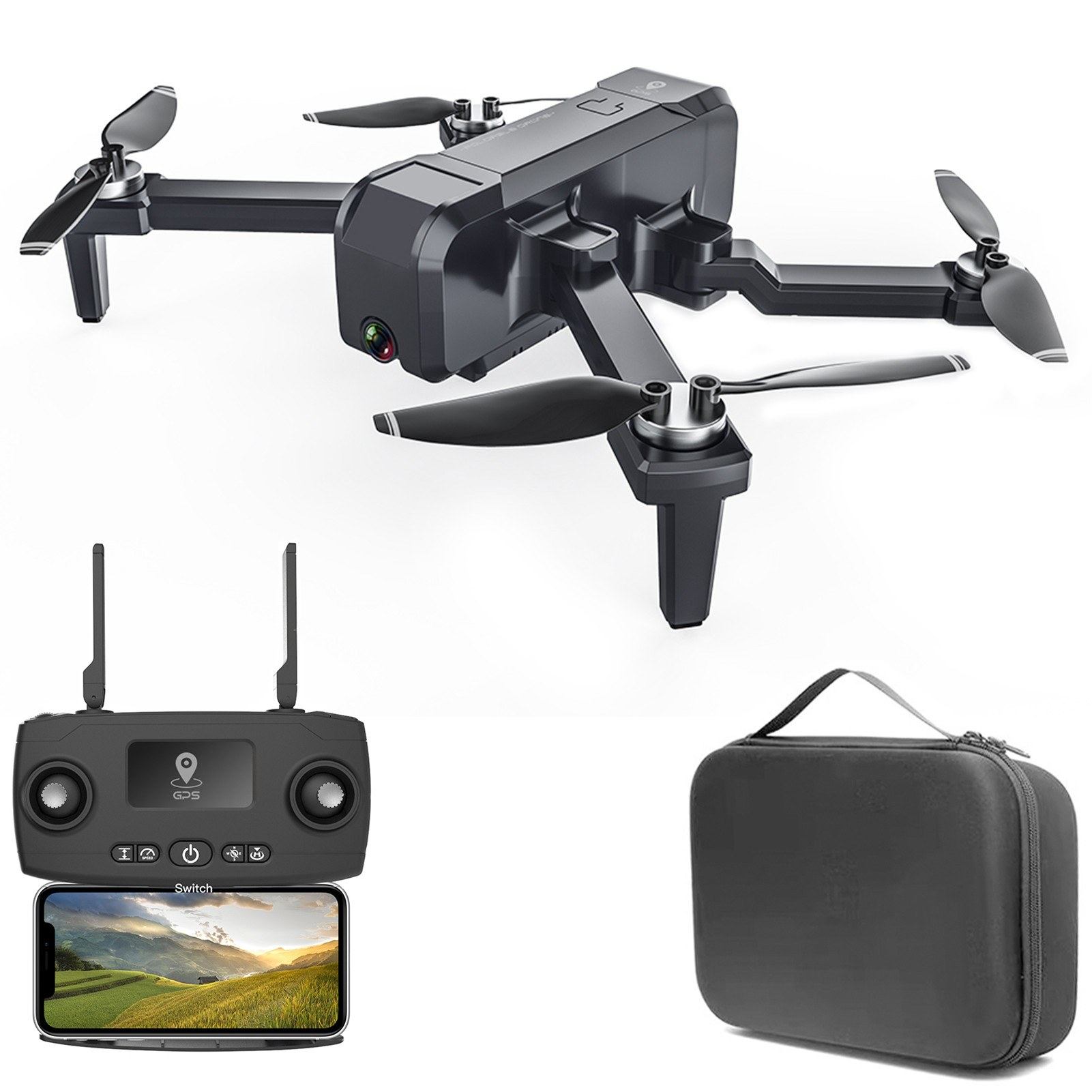 Tomtop - 54% OFF KF607 5G WIFI FPV GPS 4K Camera RC Drone, Free Shipping $91.99