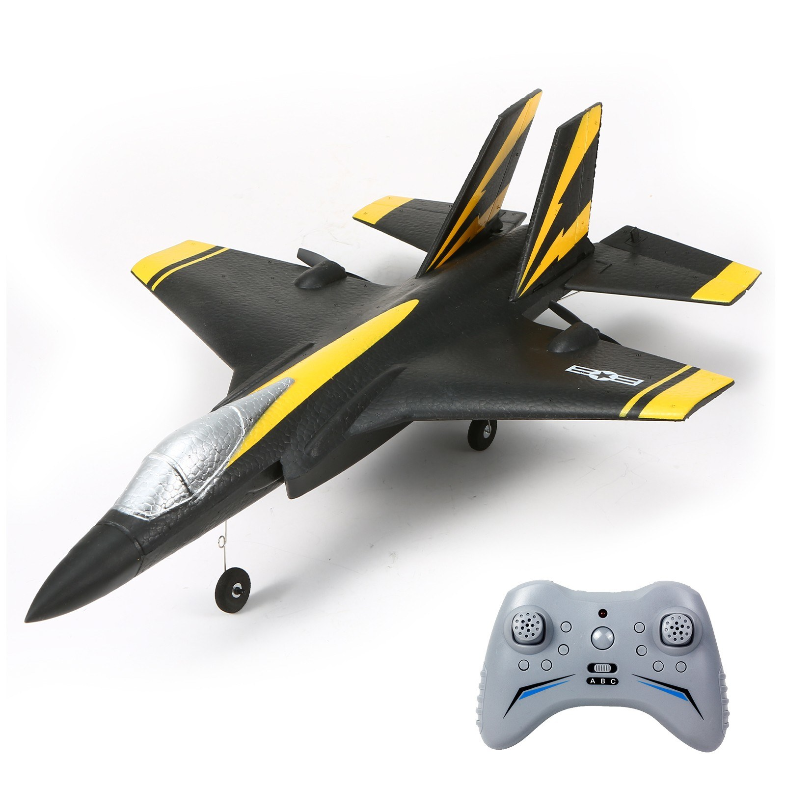 cafago.com - 61% OFF FX935 2.4G 3CH RC Airplane Flying Aircraft Combat Aircraft with LED Searchlight,free shipping+$65.61