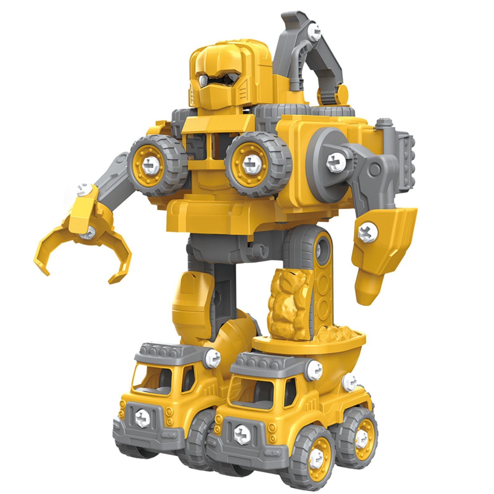 Cafago - 71% OFF Removable Robot Toys Engineering Vehicle 5 in 1 Construction Toys,free shipping+$26.42