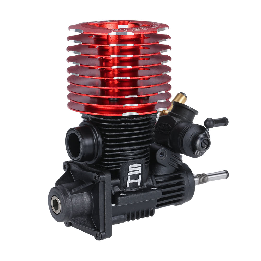 Original SH 28 P8 457CC 2 Stroke Engine With Glow Plug For 1 8 Nitro Powered Off Road RC Car Sale