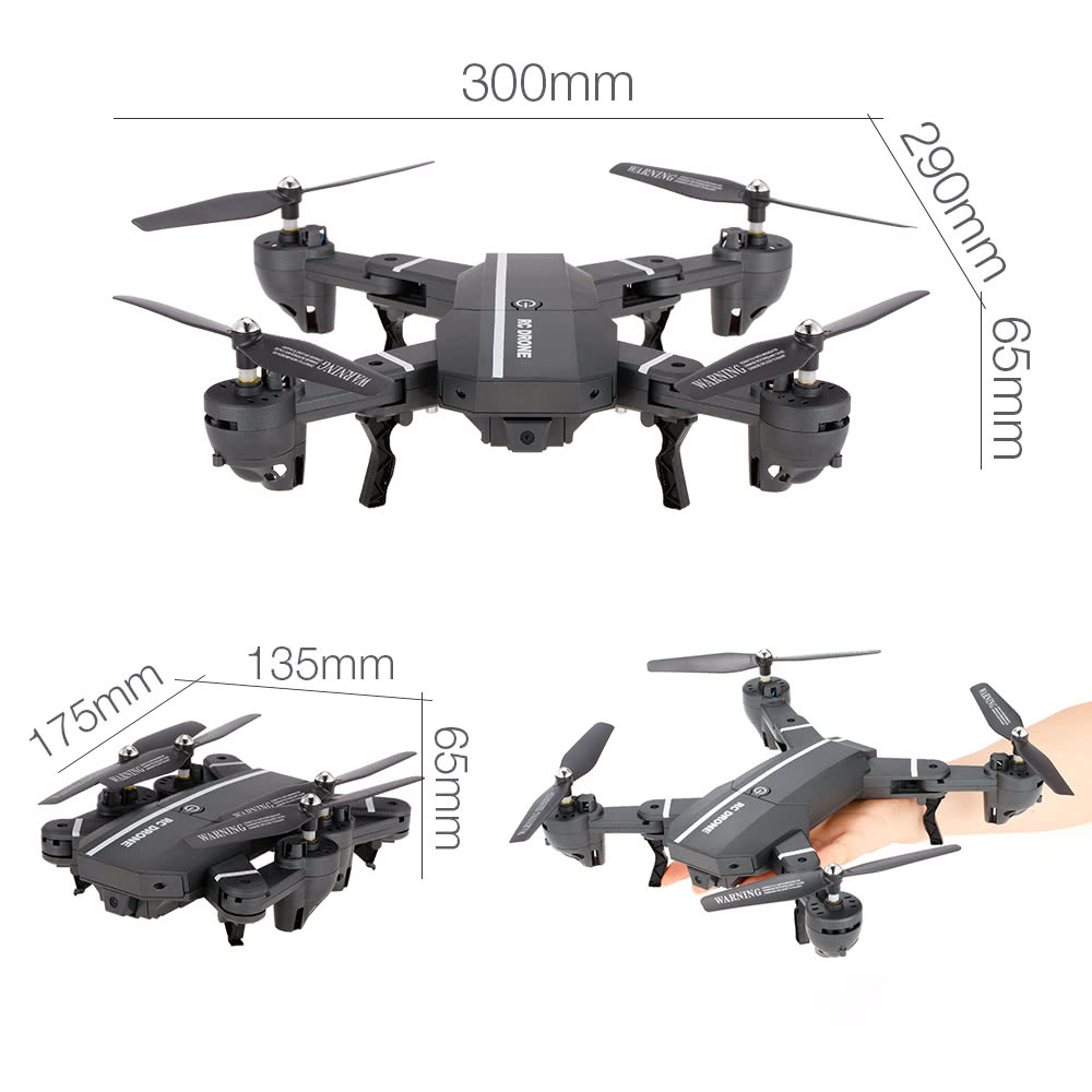 Best 8807w 720p Wide Angle Camera Wifi Fpv Foldable Drone 6 Axis Esc Wiring For Quadcopter Furthermore Helicopter Parts Diagram 1 Phone Holder 37v 900mah Lipo Battery 4 Propeller Guard Ring 2 Pair Of Spare Usb Charger Screwdriver User Manual