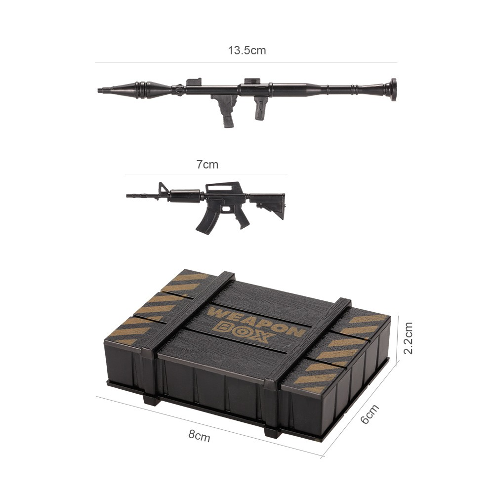 Best Simulation Weapon Box Artillery Case And Gun Kit Rc Decoration