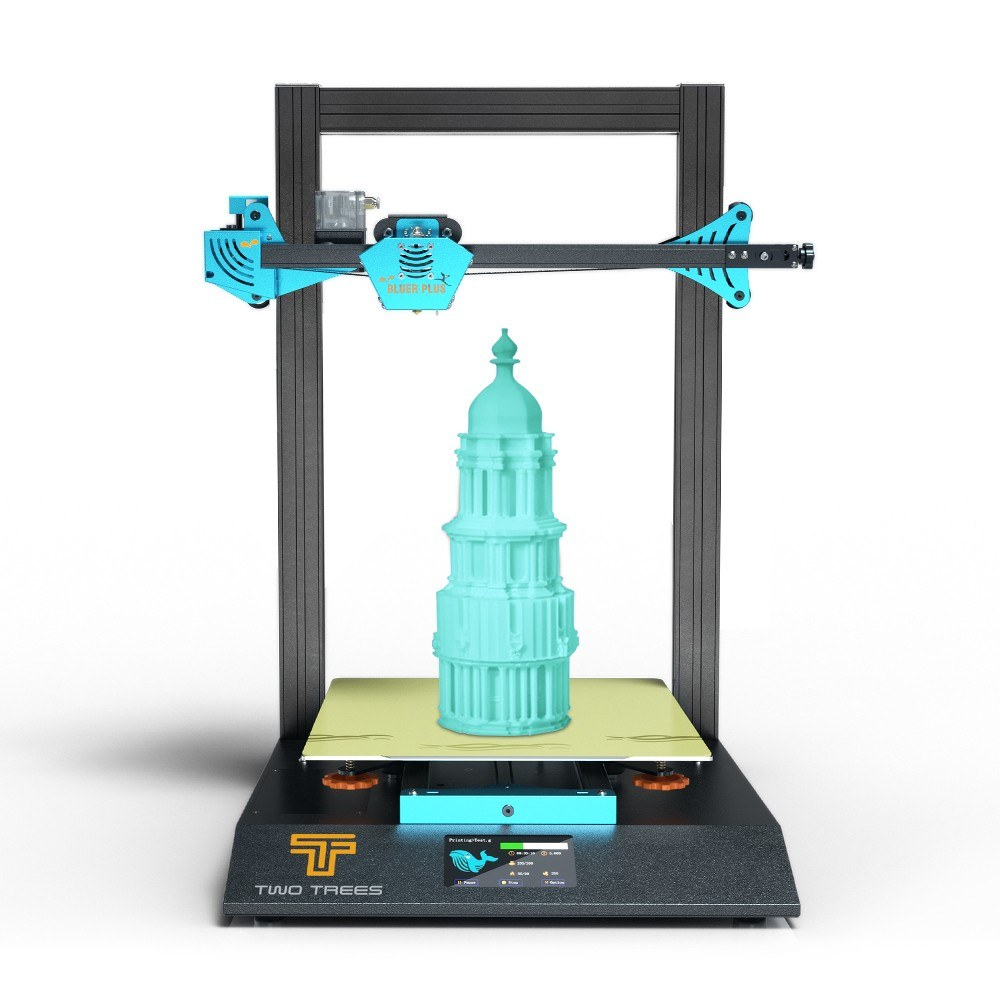 Cafago - 42% OFF TWO TREES BLUER PLUS 3D Printer 90% Pre-Assembled 300*300*400mm Large Build Volume Silent Printing Dual Z Axis,free shipping+$422.18