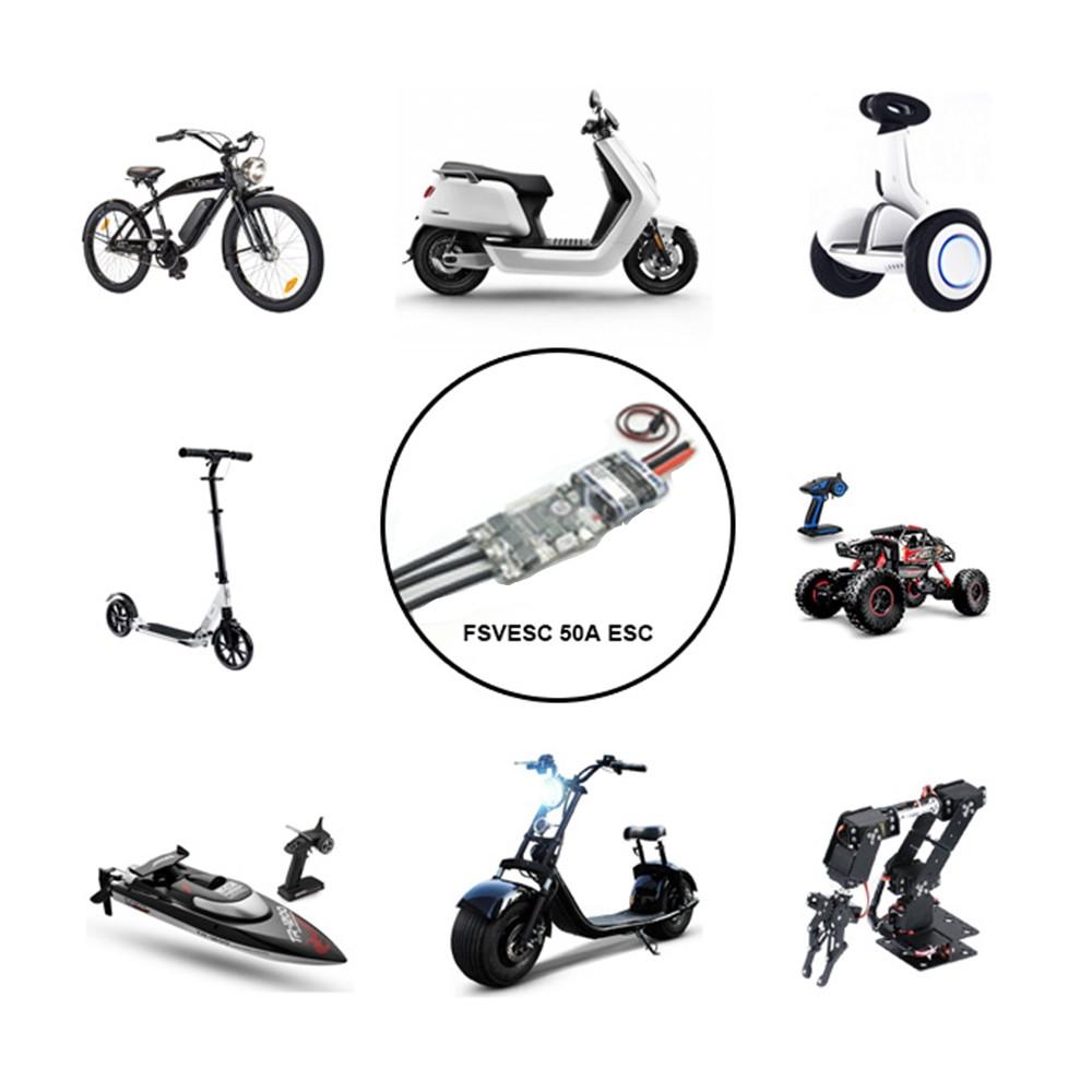 Flipsky Fsvesc V4 50a Sk8 Esc W 5v 15a Bec For Electric Skateboard Charging 2x2s Lipo In Series As Virtual 4s Pack Motors Rc Car E Bike Scooter Robot Sale Us6745 Tomtop