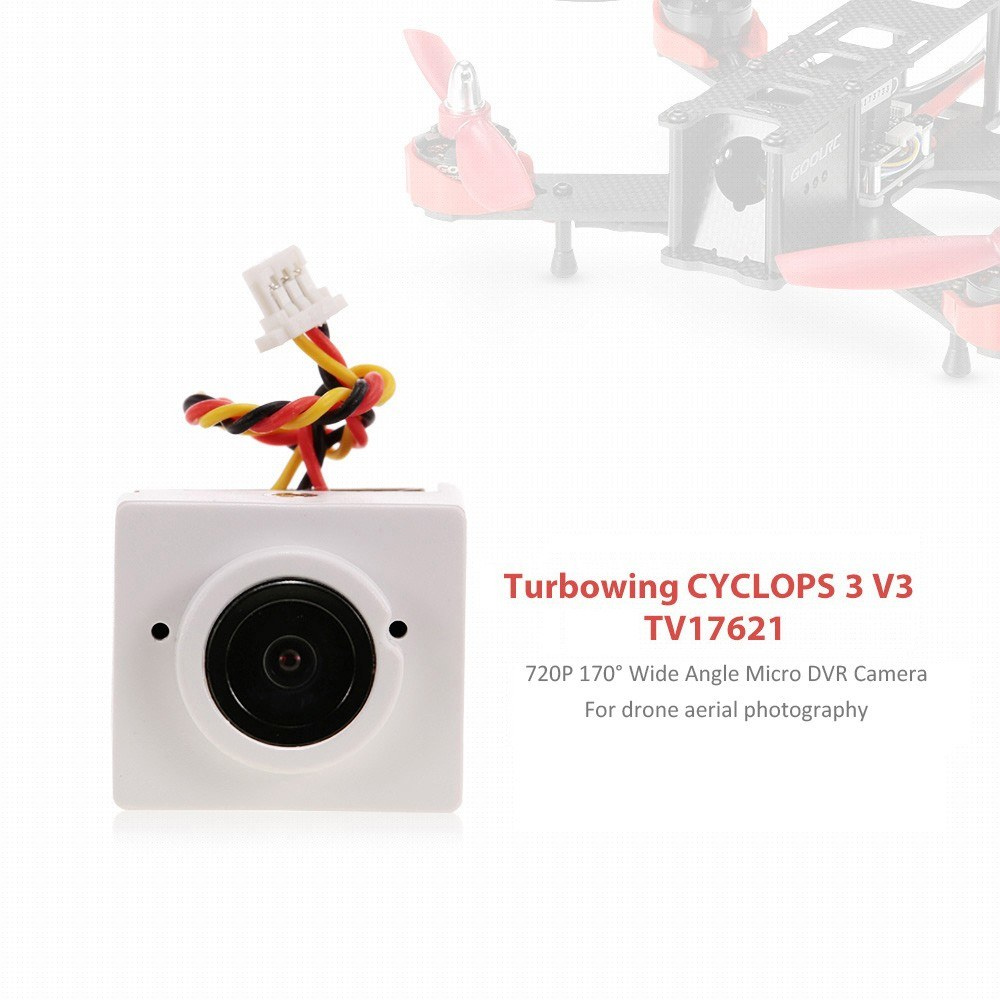 Turbowing CYCLOPS 3 V3 TV17621 720P 170° Wide Angle Micro DVR Camera for  Drone Aerial Photography for Sale - US$21 72 white   Tomtop