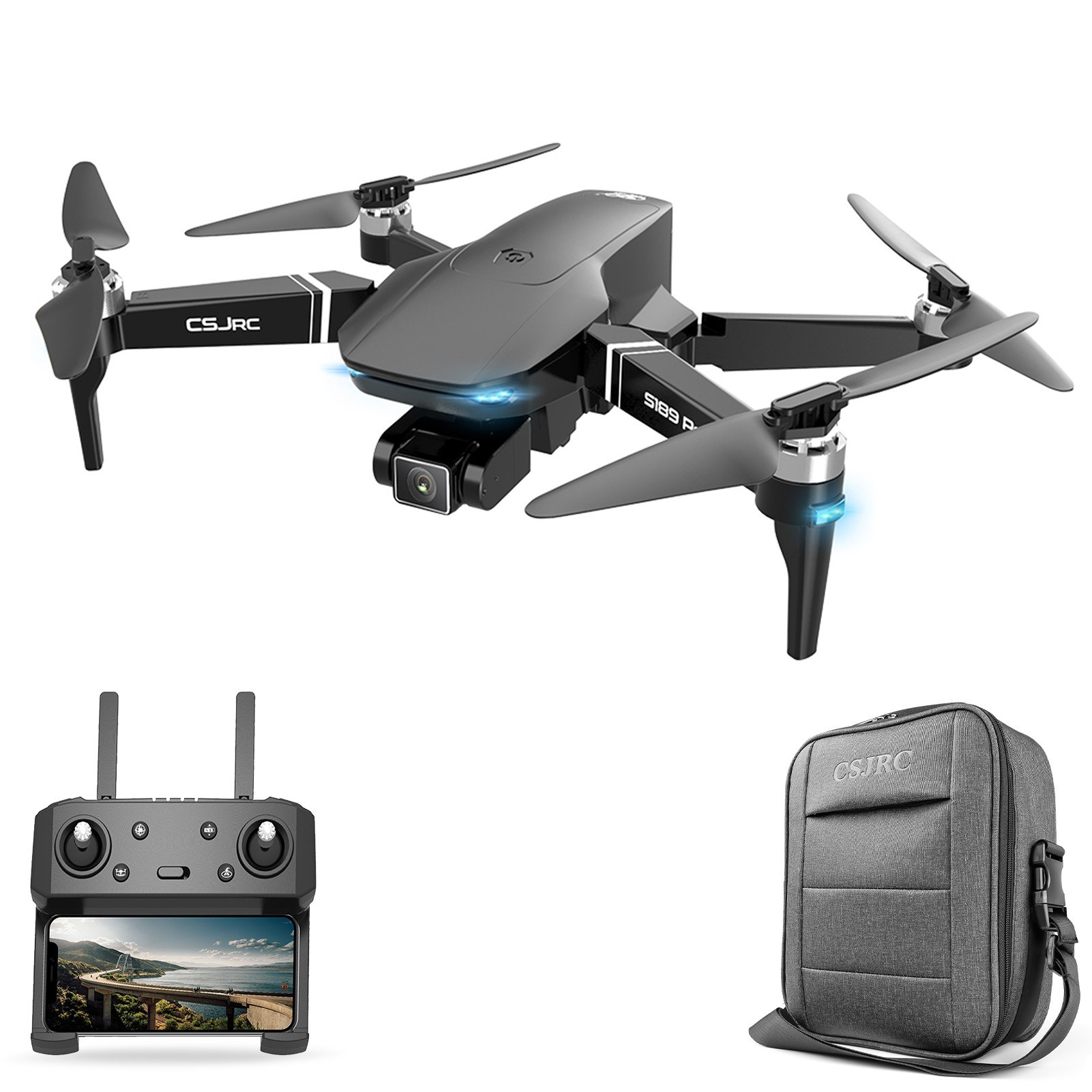 Tomtop - 53% OFF CSJ S189 PRO 5G Wifi FPV GPS 4K Camera Drone, Free Shipping $134.99