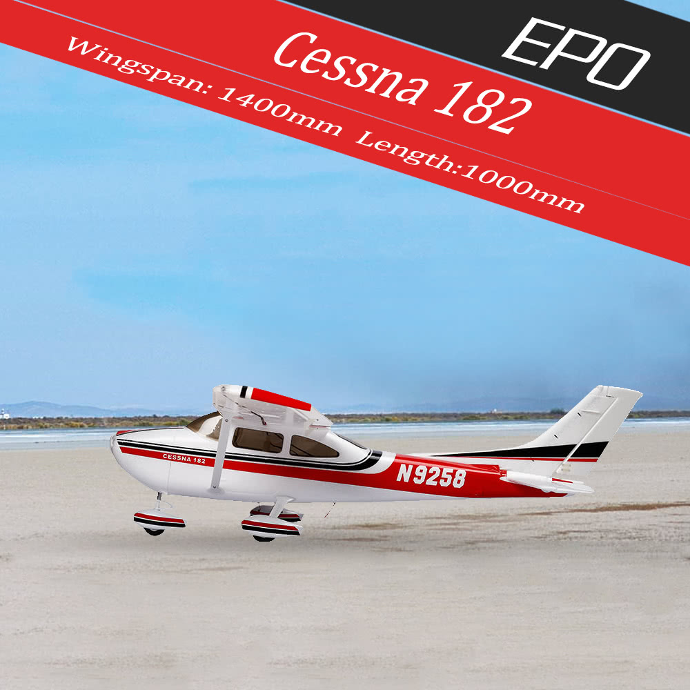 Original Sonicmodell 1400mm Wingspan Cessna 182 500 Class Epo Fixed 150 Wiring Diagram Wing Airplane Kit Version Rc Aircraft No Esc Motor Servo For Sale Us12999