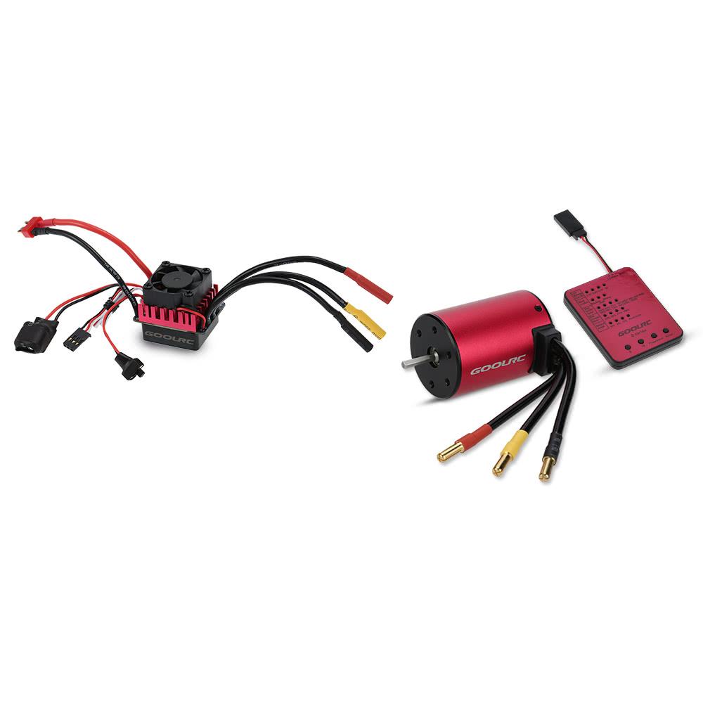 Original Goolrc S3650 3900kv Sensorless Brushless Motor 60a Mamba Max Pro Wiring Diagram Esc And Program Card Combo Set For 1 10 Rc Car Truck Sale Us3999 Tomtop