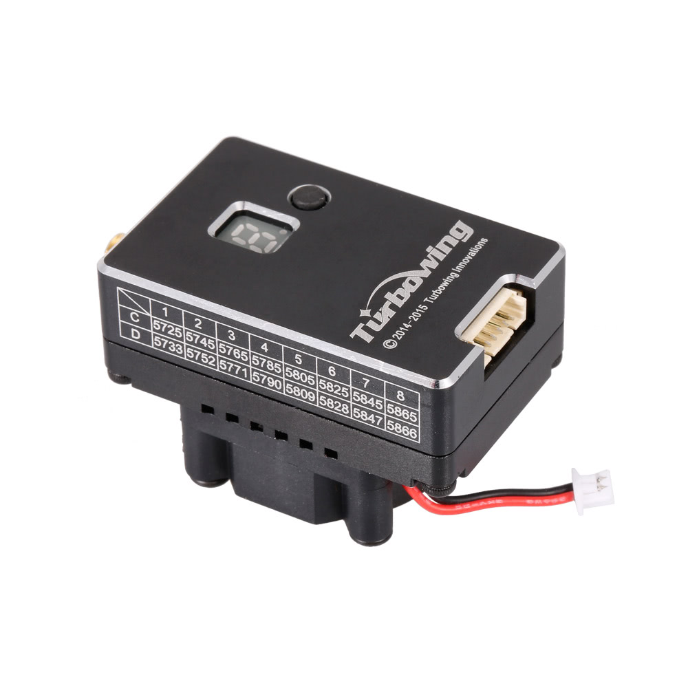 Turbowing TX2000 5 8G 40CH 2000mW FPV Transmitter Build in Fan with 5 8G  32CH Receiver for RC Drone Quadcopter