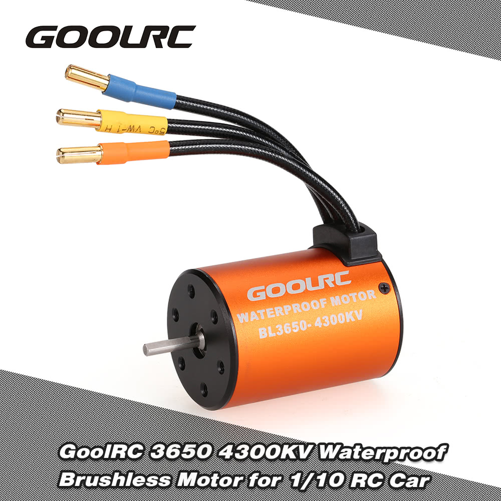 Goolrc 3650 4300kv Waterproof Brushless Motor For 1 10 Rc