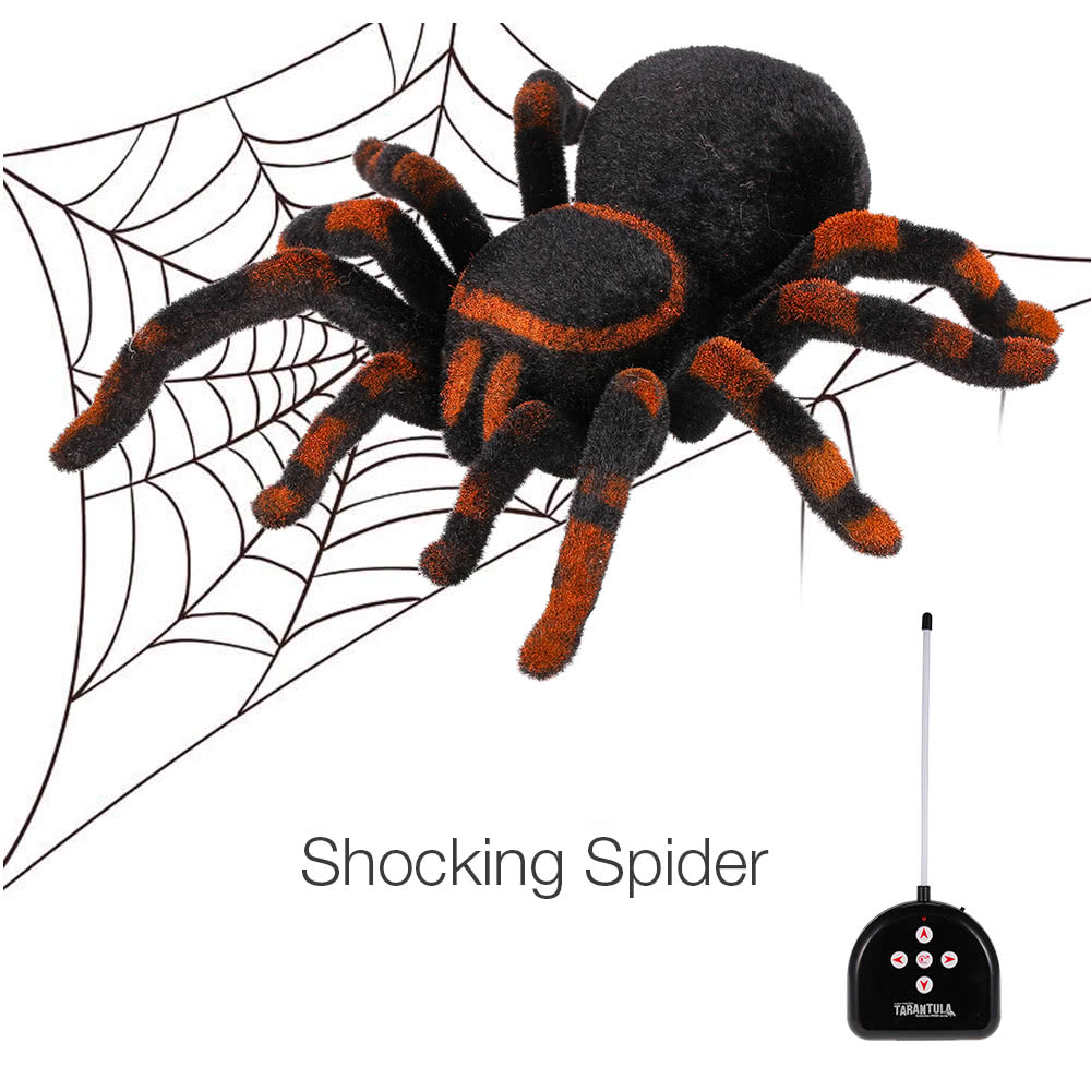 Electronic Halloween Decorations: Radio Control RC Simulation Furry Tarantula Electronic