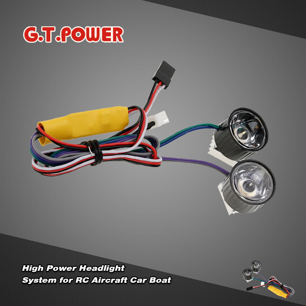 G.T.POWER High Power Headlight System RC Aircraft Car Boat