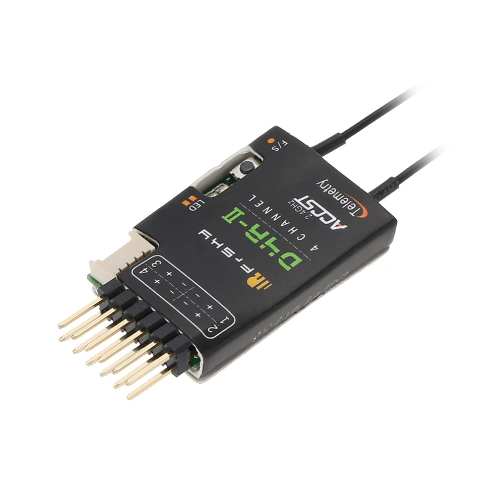 Original FrSky D4R-II 2 4G 4CH Telemetry Receiver with CPPM Output Data  Port for FrSky Taranis X9D Plus