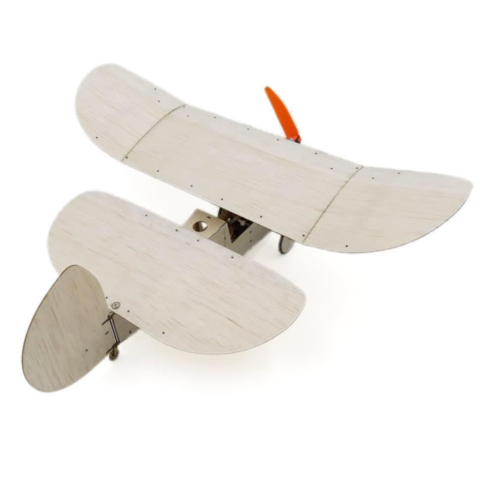 Newton Flea Balsa Wood 358mm Wingspan Plane Warbird Aircraft Model Light  Wood Airplane Kit