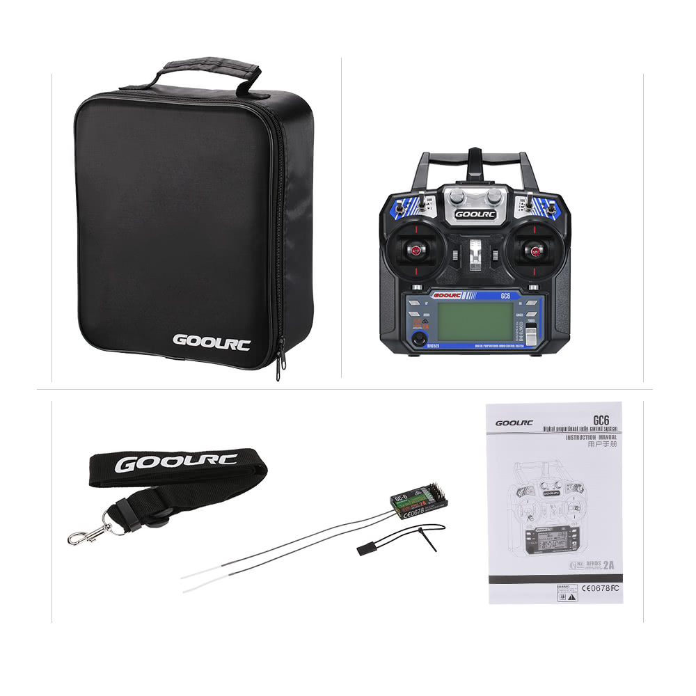 GoolRC OEM GC6 (Custom Flysky FS-i6) 2 4G 6CH Transmitter for RC Helicopter  Multicopter Fixed-wing Mode 2